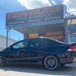 Honda Civic on 18'' Aftermarket Wheels•225/40R18 Pirelli Pzero Nero GT⚡️